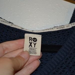 Roxy Tops - ROXY NAVY BLUE HOODED SWEATER